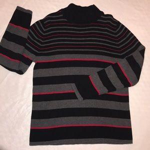Red, Black, Gray Mock Turtleneck L/XL